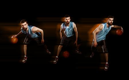 Player dribbling a basketball