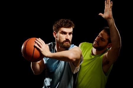 Game of two basketball players