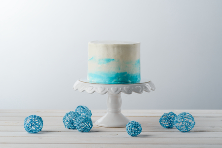 Cake and wire balls Stock Photo