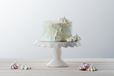 Cake and meringues Stock Photo