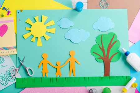 Paper art made by child