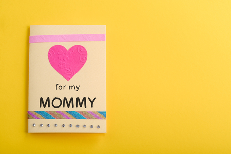 Handmade card for mommy Stock Photo