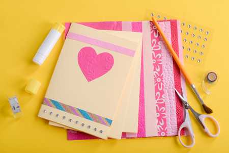 Beautiful handmade Valentines day cards