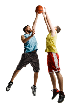 Spectacular game of basketball players Stock Photo