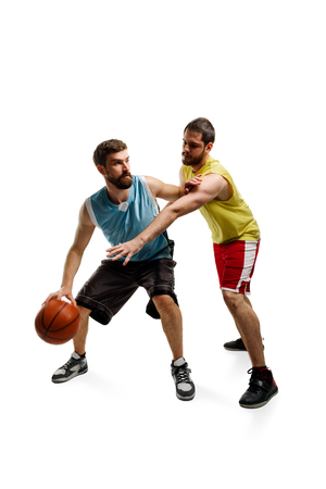 Game of two basketball players
