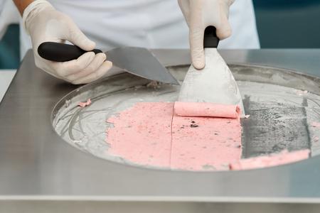 Stir-fried ice cream 写真素材