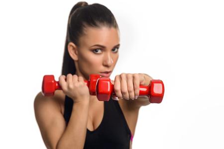 Alternating dumbbell raise exercises