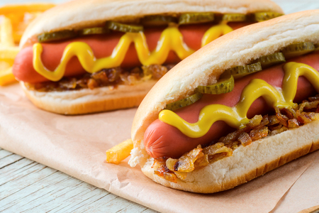 Delicious hot dogs Stock Photo - 111182639