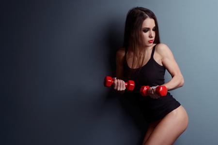 Sexy sportswoman with nice booty