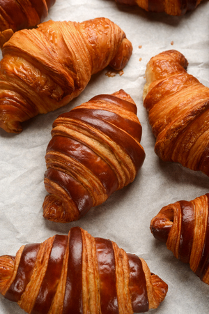 Close view on croissants Stock Photo