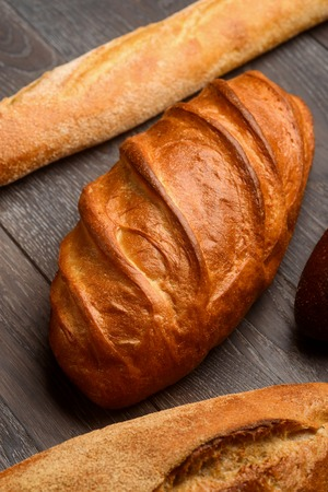 Loaves of French bread.
