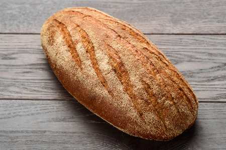 Bread loaf on wooden table