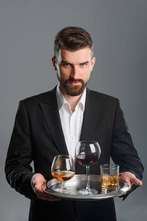 Young man at tasting session