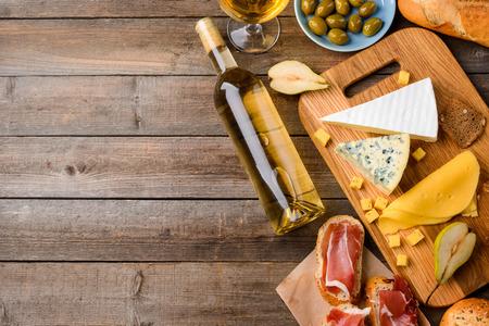 Italian food and white wine
