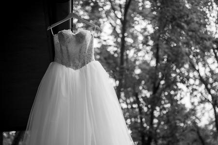Bridal dress outdoors