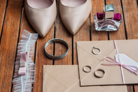 Set of accessories for bride