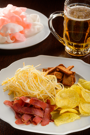 The best appetizers for beer Stock Photo