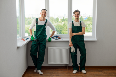 Two handyman agency workers Stock fotó