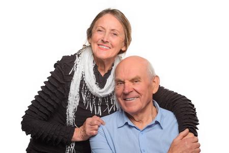 Lovesome photo of elder couple