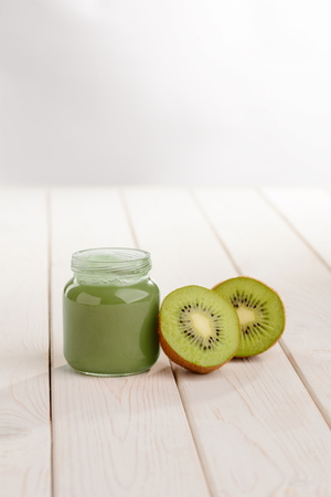 Jar of baby food Stock Photo