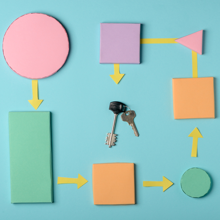 Paper shapes and keys