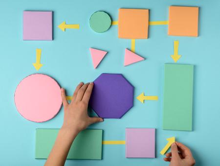 Modelo de papel de color de algoritmo