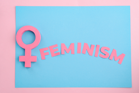 Pink female gender sign