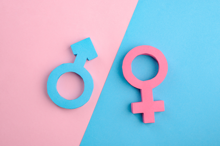 Male and female gender signs Imagens