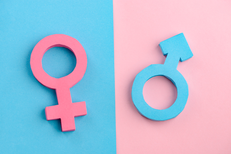 Female and male gender signs