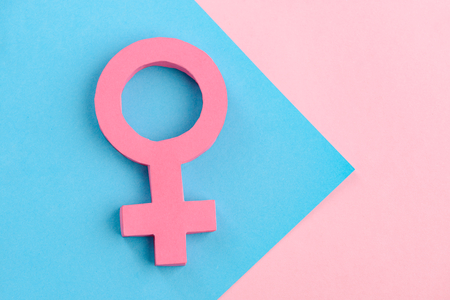 Female gender sign and arrow Stock Photo - 114441731
