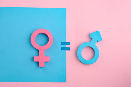Equality between men and women Stock Photo