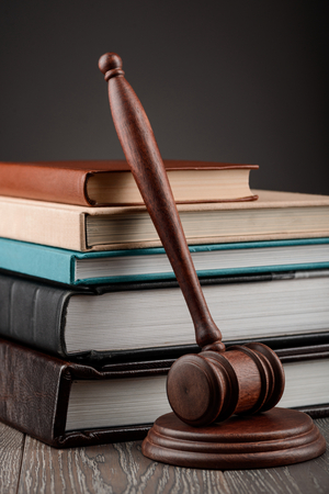 Books and a judges gavel