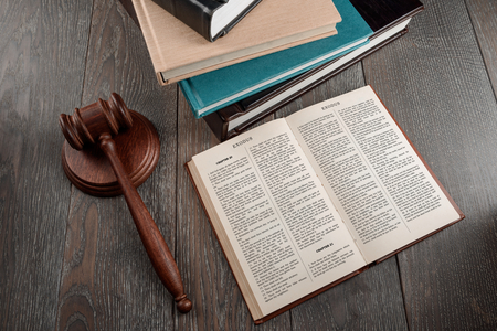 Holy Bible and gavel 写真素材