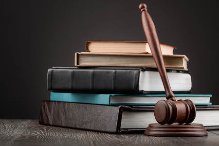 Judges gavel and books