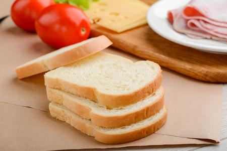 Stack of toast bread slices Reklamní fotografie