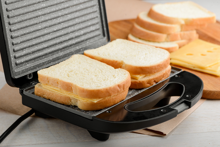 Sandwiches in a panini maker