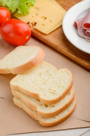 Pile of toast bread slices Reklamní fotografie