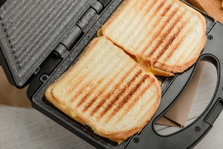 Grilled sandwiches in panini press 写真素材