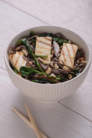 Portion of Soba noodles
