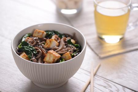 Bowl of yummy Soba noodles