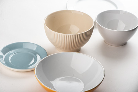 Different bowls and plates