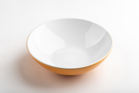 Soup plate with orange outside