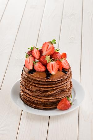 Big portion of pancakes 版權商用圖片