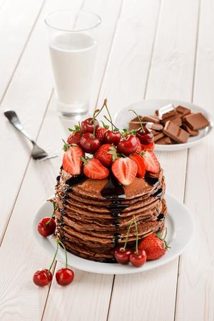 Big pile of pancakes