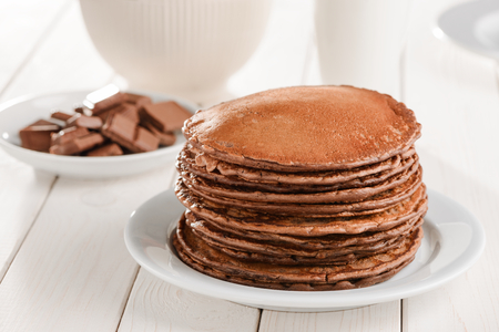 Pile of freshly baked pancakes