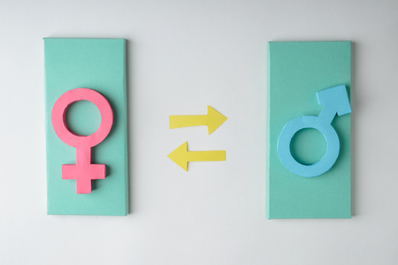 Male and female gender signs Stock Photo