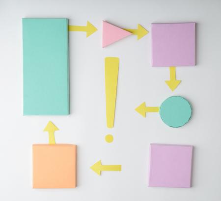 Color paper blocks