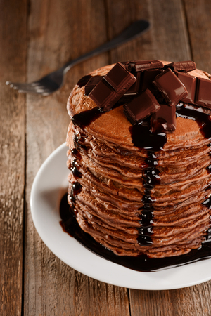 Stack of yummy pancakes