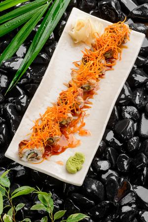 Set of sushi rolls Archivio Fotografico - 117222243