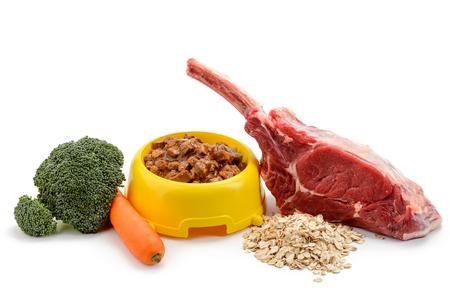 Bowl of wet pet food